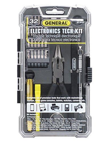 General Tools 661 Electronics Tech Repair Kit 32 Piece