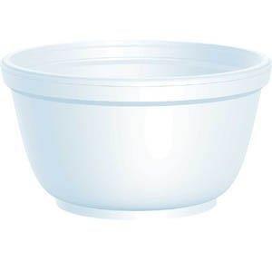 DART Foam Bowls 10 oz White Round 10B20 2 packs of 50 100 count