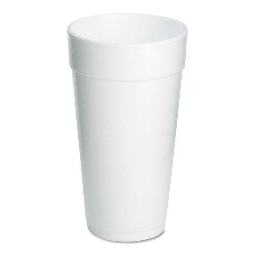 Dart 20J16 Foam Drink Cups 20oz 25 Per Pack Case of 500