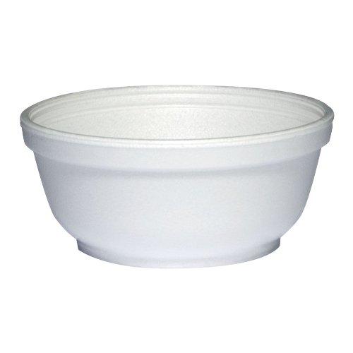 Dart 8B20 Insulated White Foam Bowl 4-14 Diam 1-34 Ht 8Oz - 1000 per case