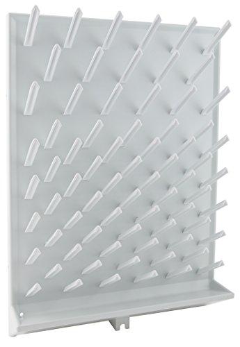 Dynalon 259184 72 Place Drying Rack Polystyrene Milliliters Degree C Polystyrene White