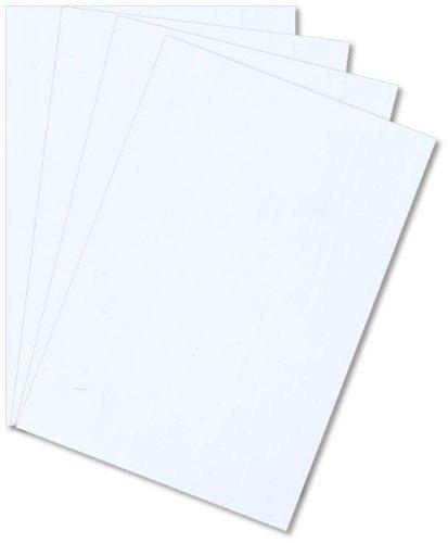 White Polystyrene 12 X 24 X 0100 Plastic Sheet Styrene Pack of 4