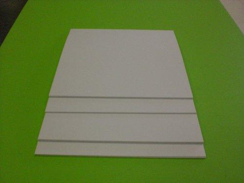 White Polystyrene 12 X 24 X 060 Plastic Sheet Styrene
