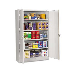 MOT3 - Assembled Jumbo Steel Storage Cabinet 48w x 18d x 78h Light Gray