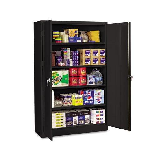 Tennsco J2478SUBK Assembled Jumbo Steel Storage Cabinet 48w x 24d x 78h Black