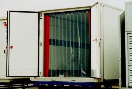 Clearway Door Low Temp - Ribbed Truck Door 8X080 100 Percent Overlap Lt-Trk-Door-858-100 Width X Height Ft 8 12 X 8 Overlap 100 Temperature Range -40 To 150 F Truck-Strip-Hd