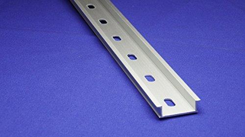 14Pcs 35mm Width Slotted Design Aluminum DIN Mounting Rail 1 Meter