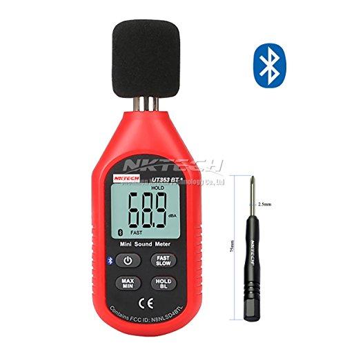 NKTECH UT353BT Bluetooth Mini LCD Digital Sound Level Meter Test 30-130dB Instrumentation Noise Decibel Monitoring Tester Frequency 315Hz-8kHz With TL-1 Screwdriver