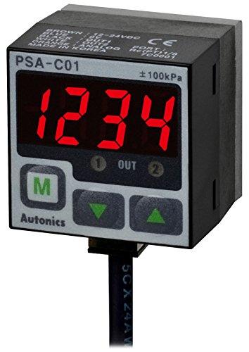 AUTONICS PSA-01P-NPT18 Sensor Pressure Standard Pressure 3 12 Digit LED 0 to 1000 kPa 2 PNP1-5 VDC OutPort NPT 18 12-24 VDC