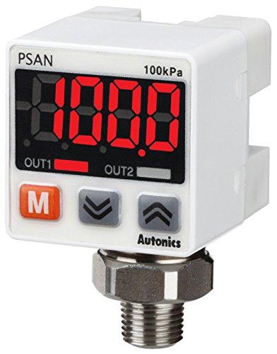 AUTONICS PSAN-L01CV-R18 Sensor Pressure Standard Pressure Connector Type Fluid 00 to 1000kPa NPN Open Collector 1-5 VDC Out Port R18 12-24VDC