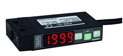 AUTONICS PSB-01 Sensor Pressure Standard Pressure 3 12 Digit LED Rectangular 0 to 1000 kPa 2 NPN1-5 VDC Out 12-24 VDC