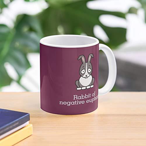 John Finnemore Happy Bunny Rabbit Cabin Pressure Standard Handmade Top Selling 11 Oz White Novelty Gift Friend Mug