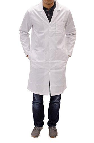 Unisex Long White Lab Coat - Chemistry Biology Organic Chem Science Student Lab