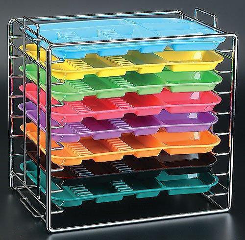 Dental instruments Organize Tray Rack Chroma Hold 8 trays B SizeTrays NOT Includes