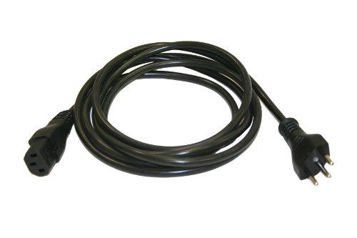 Interpower 86286110 Brazil Cord Set NBR 14136 Plug Type IEC 60320 C13 Connector Type Black Plug Color Black Cable Color 10 Amps 250 VAC Voltage 25 m Length