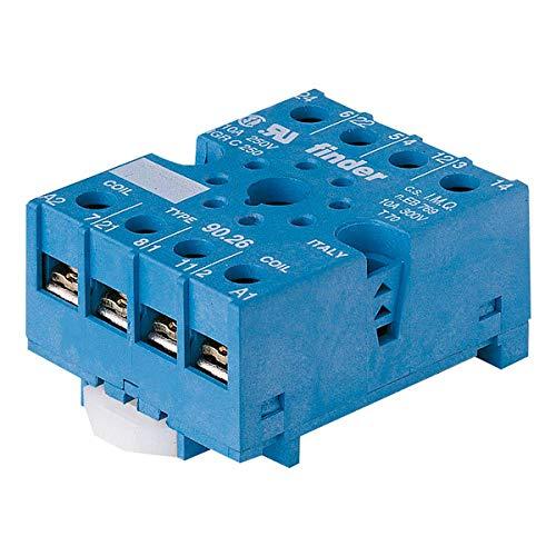 Finder 9026-10PK DIN -RailPanel Mount Screw Terminal Plate Clamp Socket