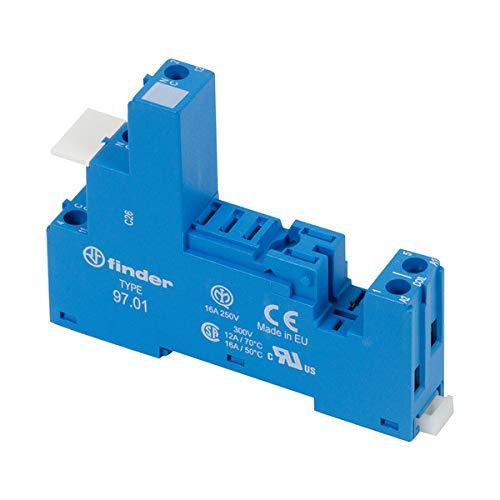 Finder 9027-10PK DIN -RailPanel Mount Screw Terminal Plate Clamp Socket