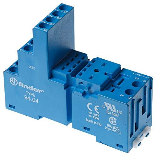 Finder 9404-10PK DIN -RailPanel Mount Screw Terminal Box Clamp Socket