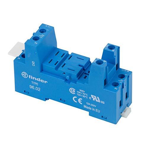 Finder 9602-10PK DIN -RailPanel Mount Screw Terminal Box Clamp Socket