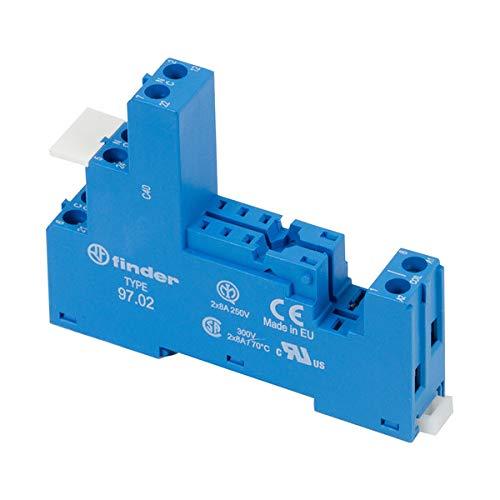 Finder 9702-10PK DIN -RailPanel Mount Screw Terminal Box Clamp Socket