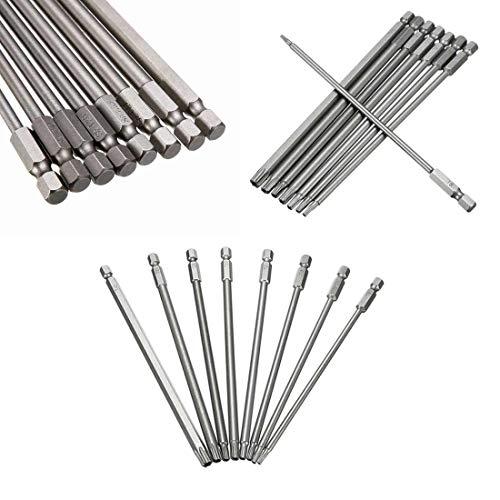 Magnetic Electric Screwdriver Set 8pcs T8-T40 150mm Length Long Steel Torx Screwdriver Bit