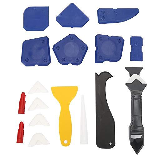 18PCS Caulk Tools Sealant Tool Kit Silicone Sealant Remover Shovel Glass Cement Caulking Scraper for Most Types of Sealant Silica Gel Acrylic Acid