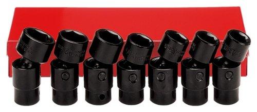 Ampro A5580 7 Piece 38-Inch Drive Flex Impact Socket Set