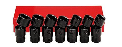 Ampro A5590 7 Piece 12-Inch Drive Flex Impact Socket Set