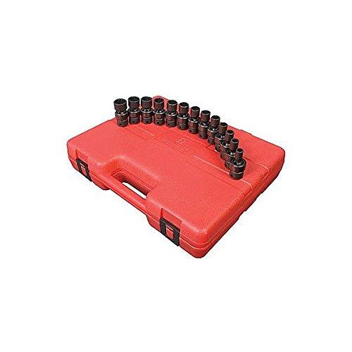 Sunex Tools 3691 13 Piece 38 Drive 12 Point Flex Impact Socket Set Metric