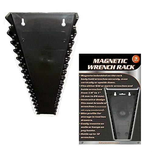 1 Universal Magnetic Wrench Tray SAE Metric Socket Rack Toolbox Organizer Holder