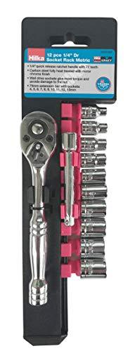 Hilka Tools 03301202 12 pce 14 Dr Socket Rack Metric