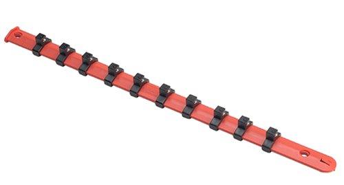 Vim Tools V521 38-Inch 10 Clip Socket Rack Red Plastic