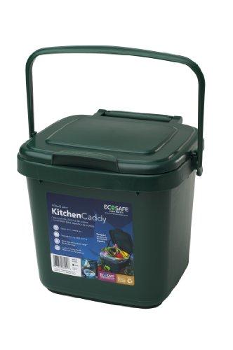 EcoSafe KCGRN Kitchen Caddy Food Waste Bin Plastic 2 gallon Green