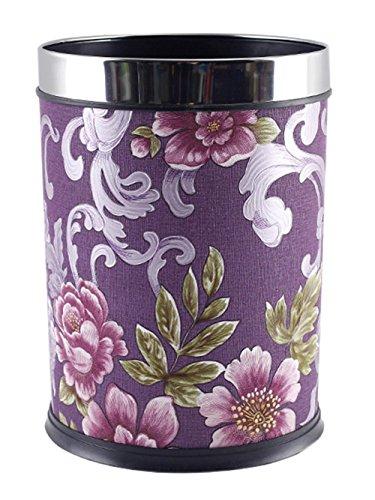 Round Wastebasket Waste Bin 886 Diameter x 1201 HeightInch Purple
