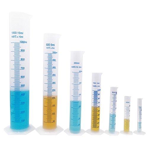Kalevel 100ml Graduated Cylinder Plastic Liquid Measuring Graduated Measuring Cylinder Plastic Measuring Tools Polypropylene Cylinder Lab Test Tubes Equipment