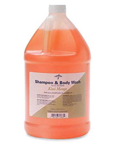 Medline MSC095062 Fragranced Shampoo and Body Wash Kiwi Mango Scent 128 oz Pack of 4