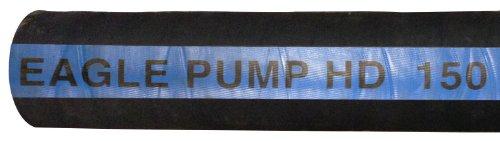 JGB Enterprises Eagle Hose Pump HD 150 Rubber Bulk Hose Black 150 PSI Max Pressure 2 Hose ID 100 Length