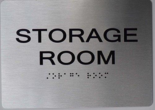 Storage Room ADA Sign -Aluminium Brush SilverSize 5X7 The Sensation line