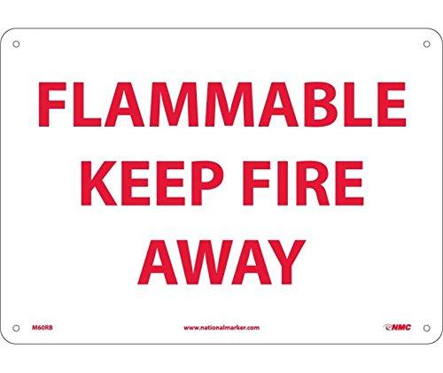 FLAMMABLE KEEP FIRE AWAY 10X14 RIGID PLASTIC 4 Case