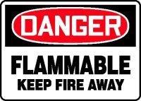 FLAMMABLE KEEP FIRE AWAY