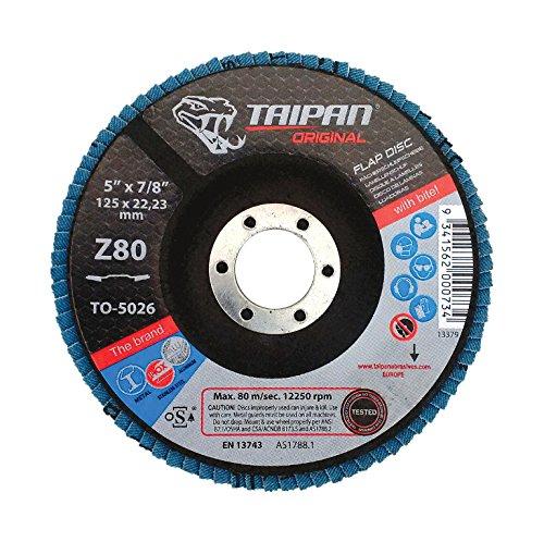 Taipan Abrasives TO-5010 Original Zirconia Flap Disc Depressed 24 Grit 4-12 OD 58 Arbor 13300 RPM