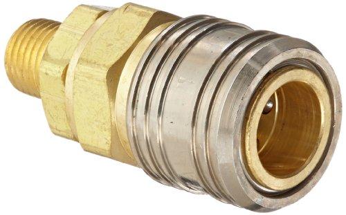 Eaton Hansen 410 Brass 1000400500 Series Industrial Interchange Coupler Socket 38 Body size x 14 NPT Male
