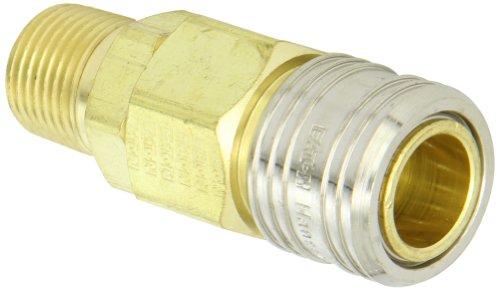 Eaton Hansen 530E Brass 1000400500 Series Industrial Interchange Coupler Socket 12 Body size x 12 NPT Male