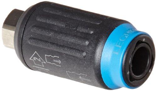 Legris 9415U06 14 Nylon Nickel-Plated Brass Tube Fitting Industrial Interchange Coupler 14 Female NPT