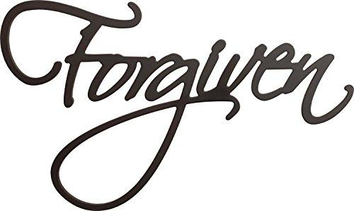 Forgiven Script Black 17 x 2825 Wood Cutout Wall Word