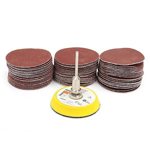 CynKen 60pcs 50mm 100-2000 Grit Sanding Discs Polishing Pad Sandpaper With Sanding Pad
