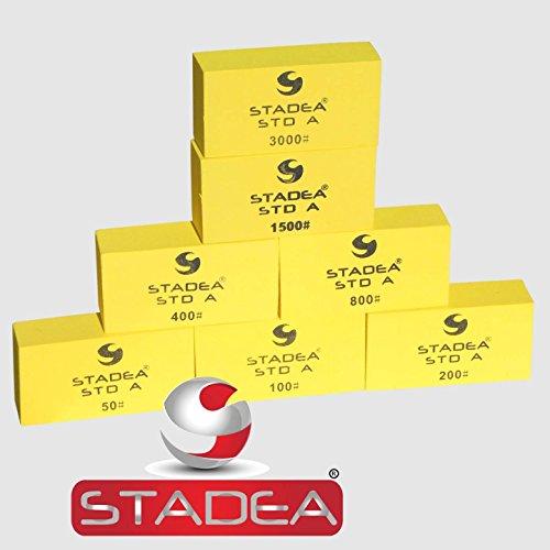 Diamond Hand Polishing Pads STADEA for Stone Concrete Granite Marble - Set of 7 Pcs