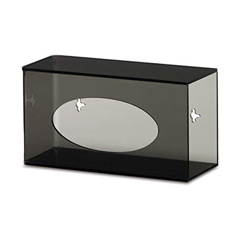 Single Side-Loading Glove Box Dispenser Holder Dark Grey Acrylic