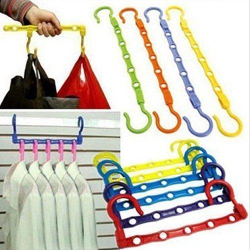 5PCS Space Saver Hanger Wonder Closet Organizer Magic Hanger - Color Random
