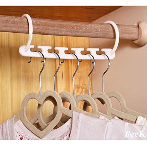8pc Plastic Space Saver Magic Hanger Wonder Clothes Rack Clothing Hook Organizer AM